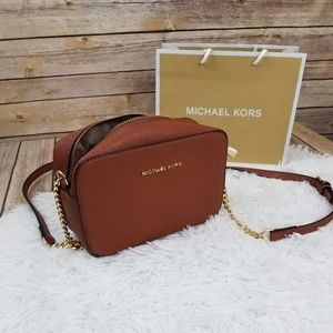 Brown Michael Kors Crossbody Chain Strap Bag